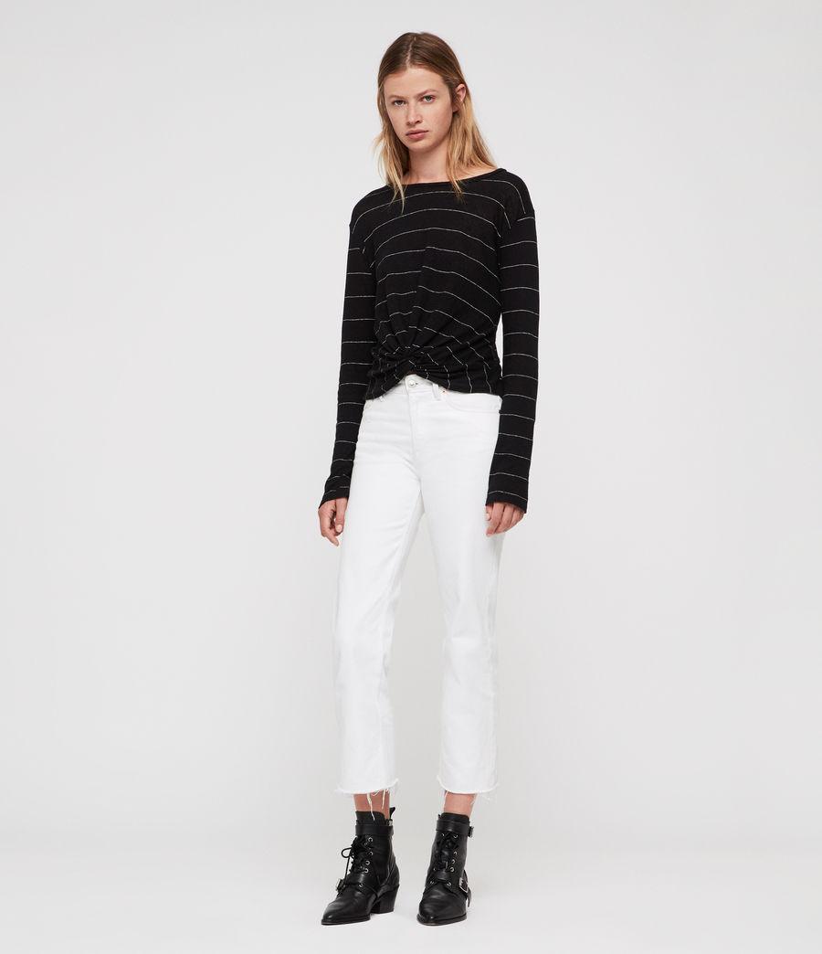 Donne Carme Stripe T-Shirt (black_chalk_white) - Image 3