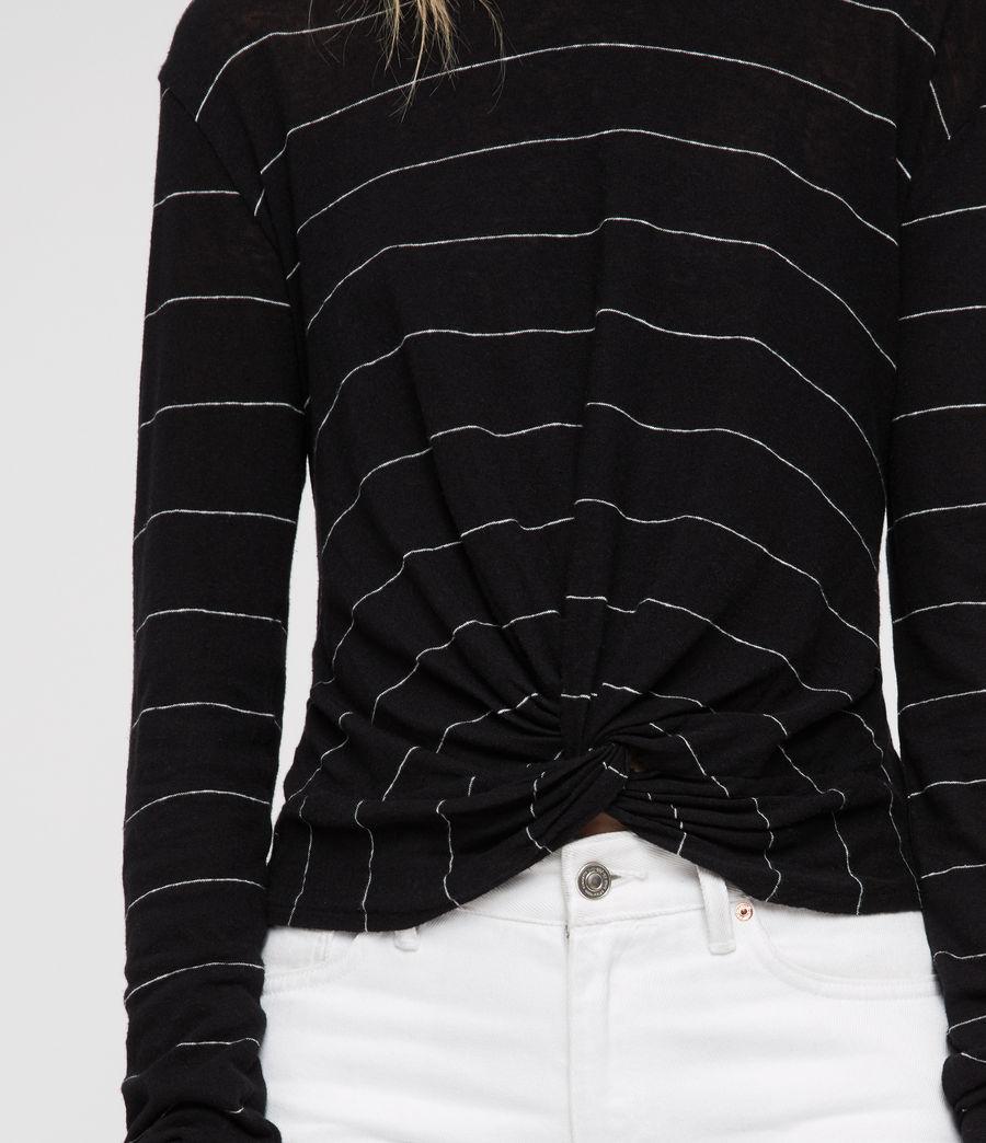 Donne Carme Stripe T-Shirt (black_chalk_white) - Image 4