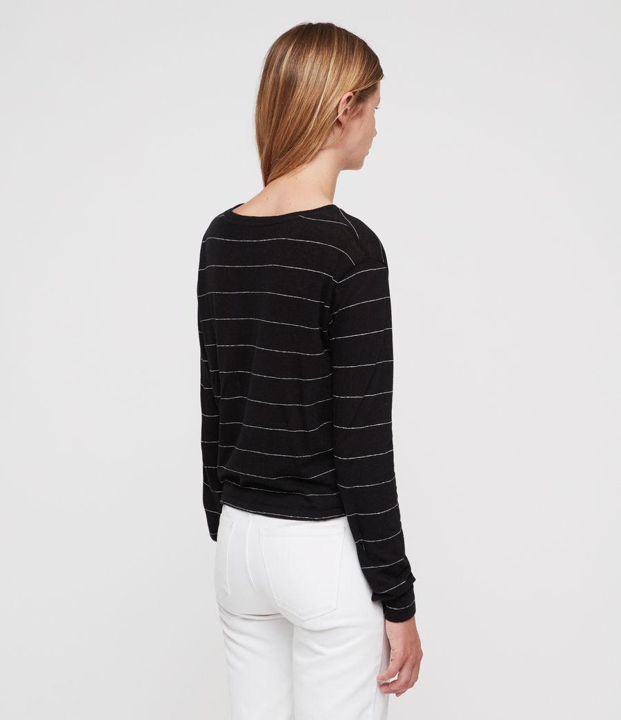 Donne Carme Stripe T-Shirt (black_chalk_white) - Image 5