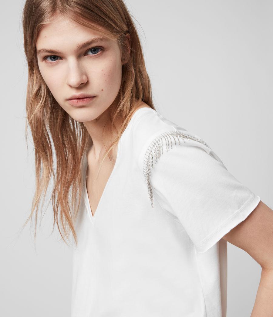 Womens Emelyn Chain T-Shirt (chalk_white) - Image 1