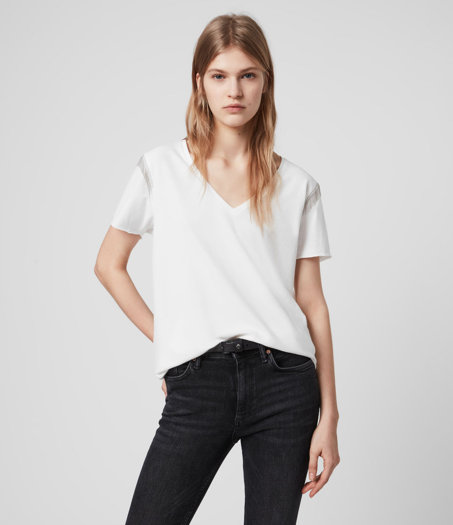 Womens Emelyn Chain T-Shirt (chalk_white) - Image 2