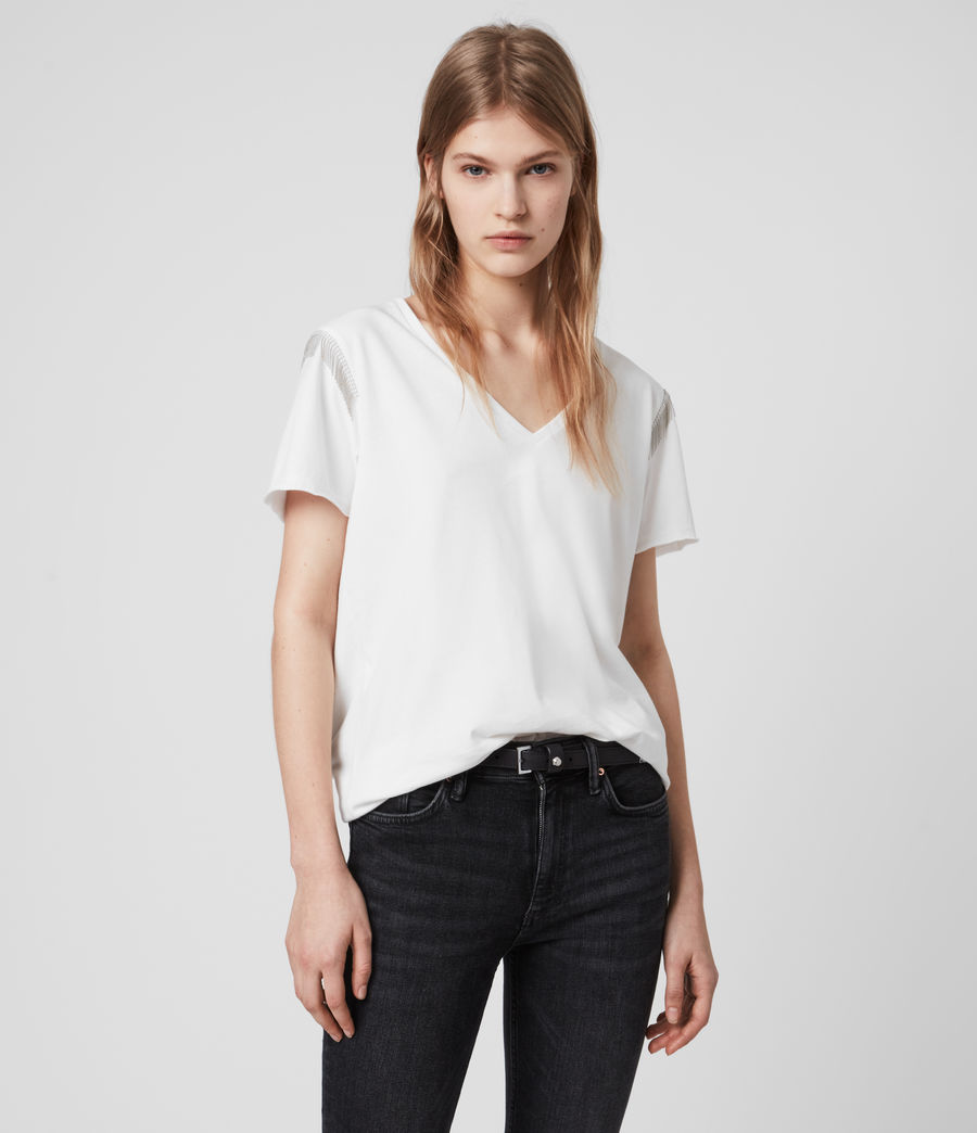 Womens Emelyn Chain T-Shirt (chalk_white) - Image 4