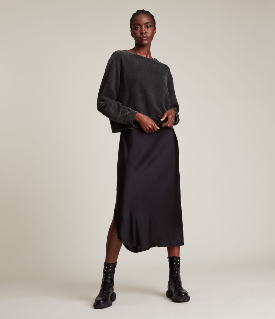 Womens Pippa Embroidered Sweatshirt (black) - Image 1
