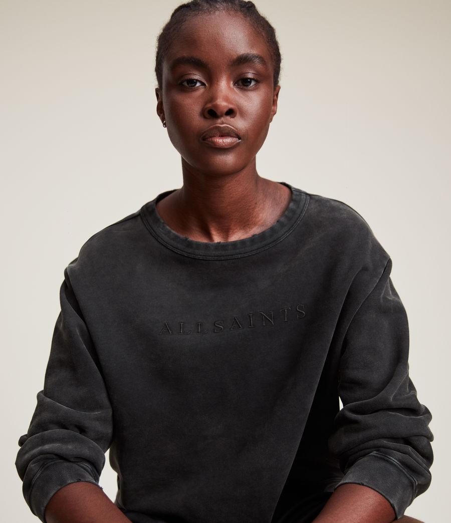 Womens Pippa Embroidered Sweatshirt (black) - Image 2