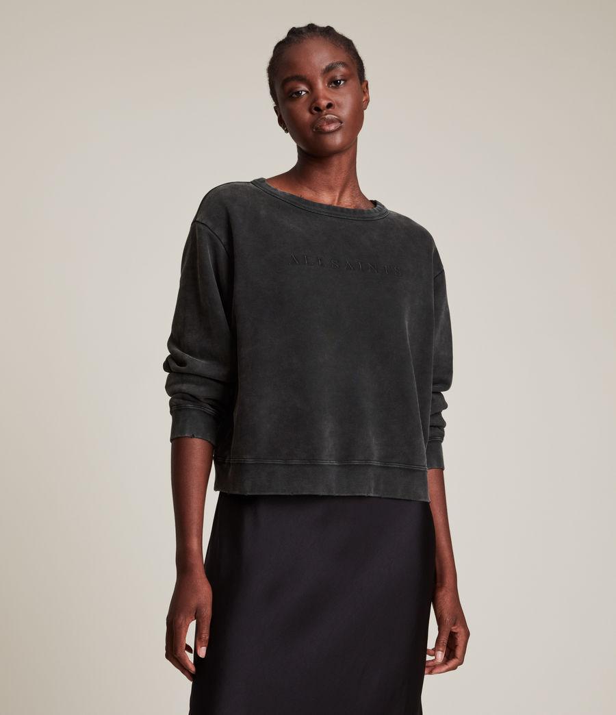 Womens Pippa Embroidered Sweatshirt (black) - Image 3