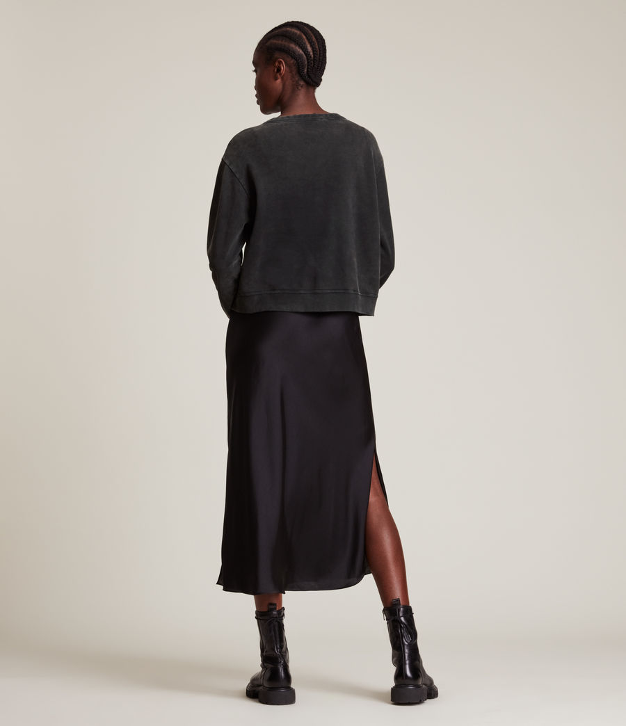 Womens Pippa Embroidered Sweatshirt (black) - Image 4