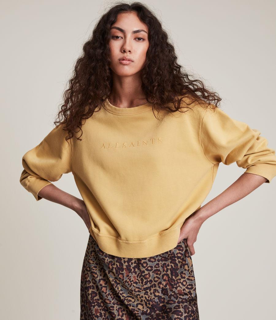 Women's Pippa Embroidered Sweatshirt (sunstone_yellow) - Image 1