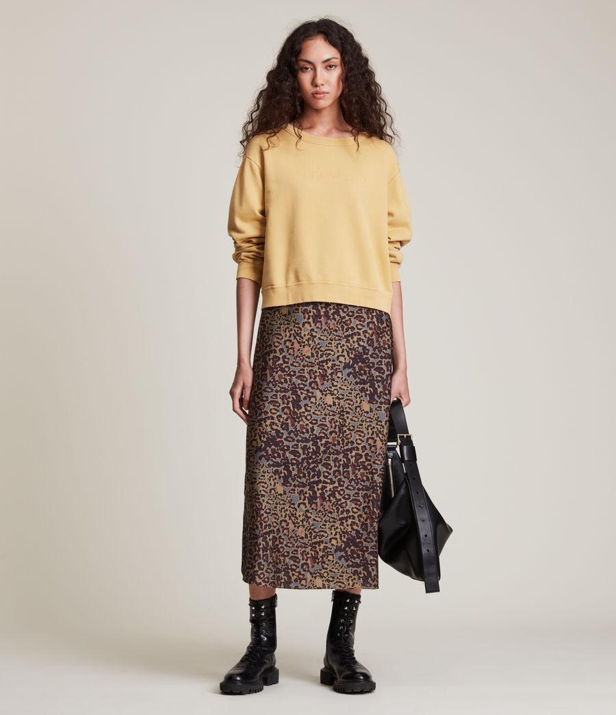 Women's Pippa Embroidered Sweatshirt (sunstone_yellow) - Image 2
