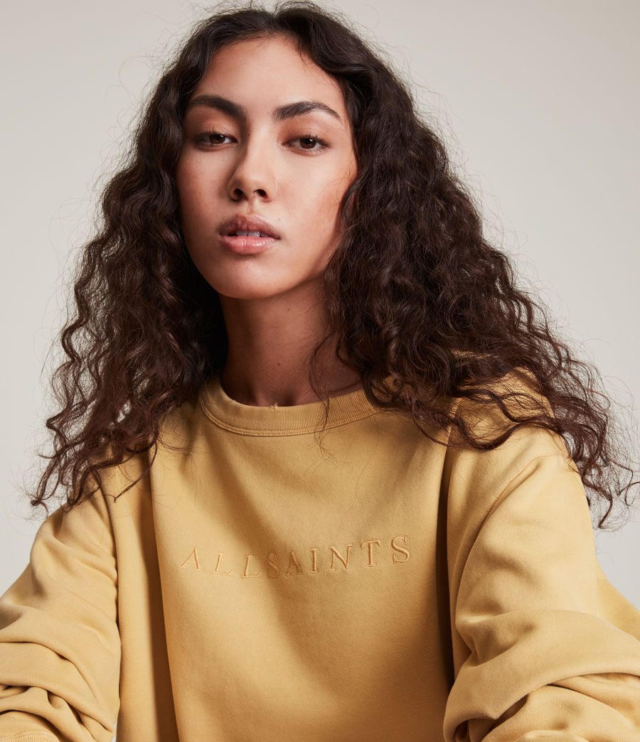 Women's Pippa Embroidered Sweatshirt (sunstone_yellow) - Image 3