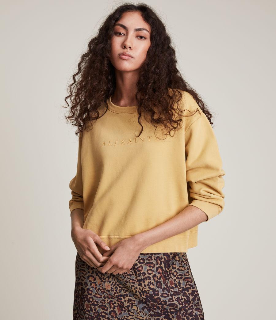 Women's Pippa Embroidered Sweatshirt (sunstone_yellow) - Image 4