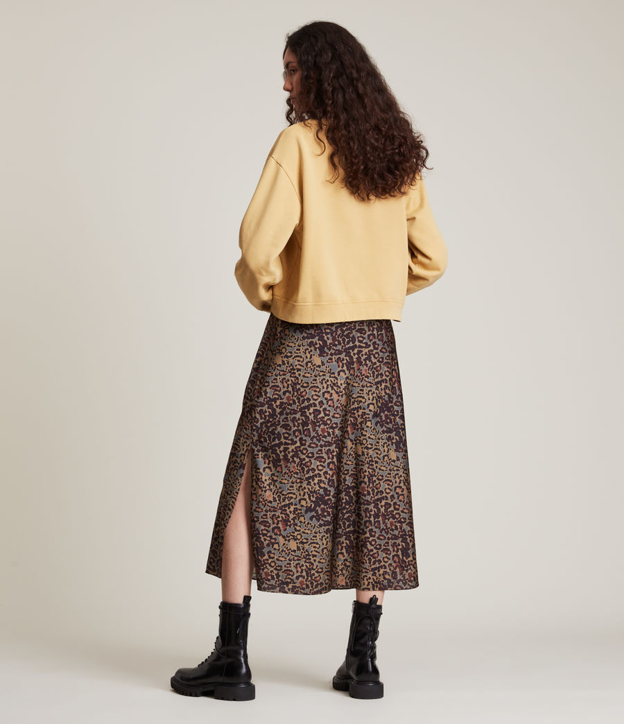 Women's Pippa Embroidered Sweatshirt (sunstone_yellow) - Image 5