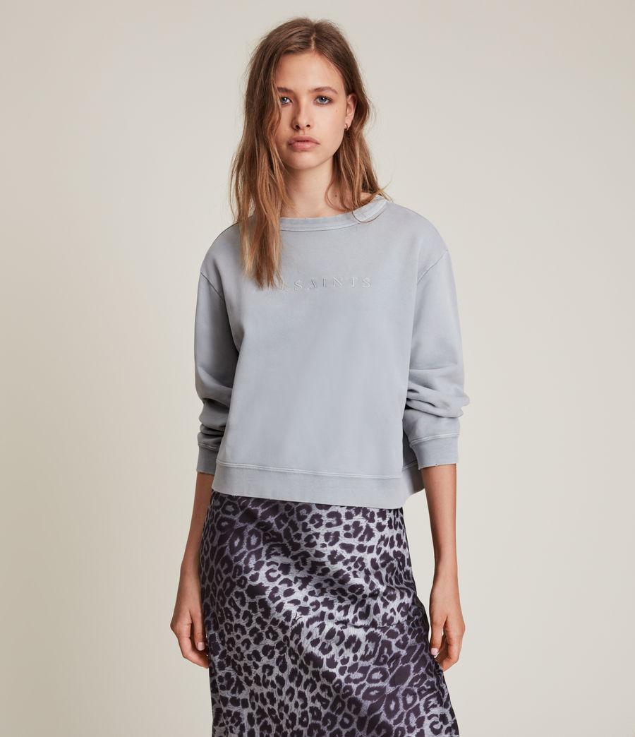 Women's Pippa Embroidered Sweatshirt (thunder_grey) - Image 1