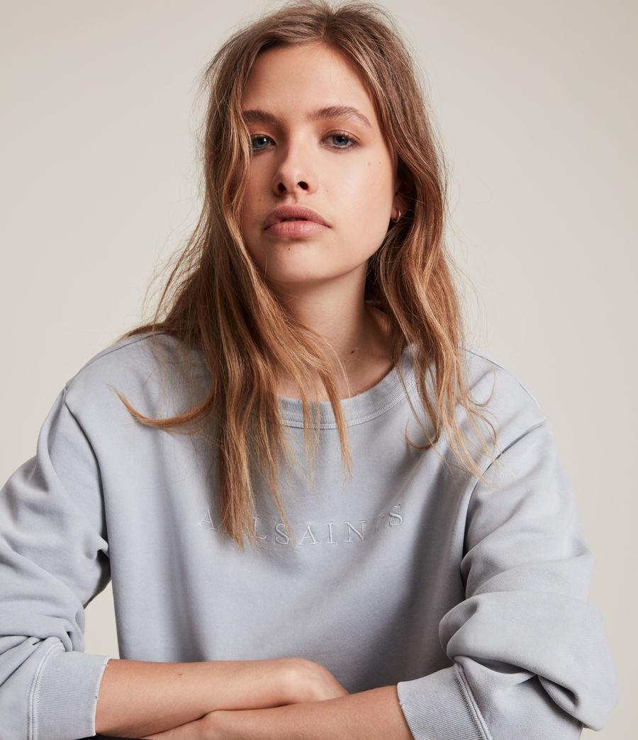 Women's Pippa Embroidered Sweatshirt (thunder_grey) - Image 2