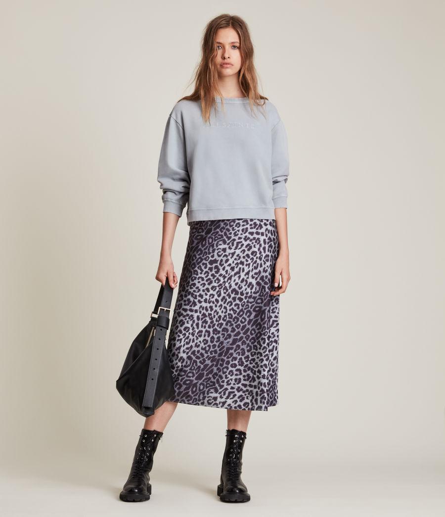 Women's Pippa Embroidered Sweatshirt (thunder_grey) - Image 3