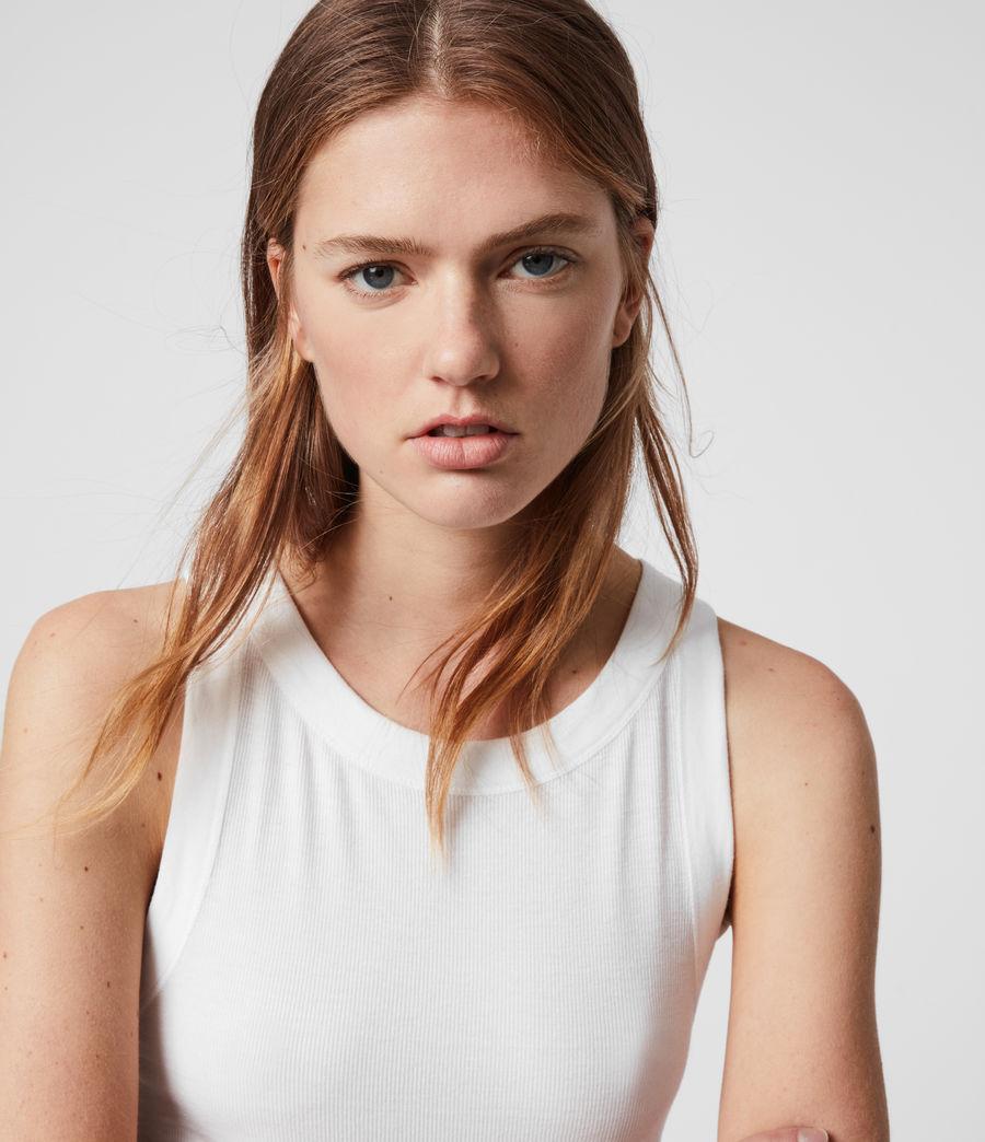 Mujer Camiseta sin Mangas Rina (chalk_white) - Image 2