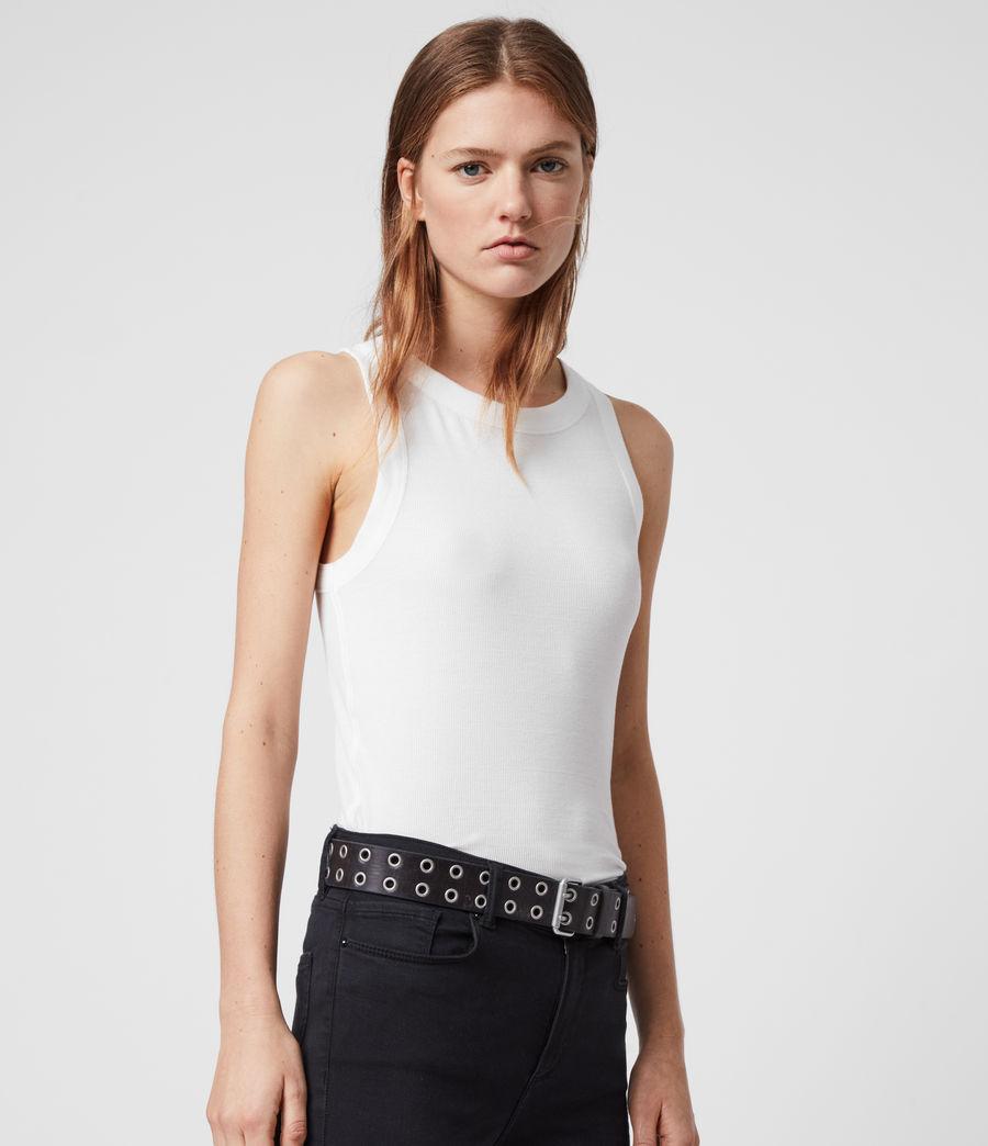 Mujer Camiseta sin Mangas Rina (chalk_white) - Image 4