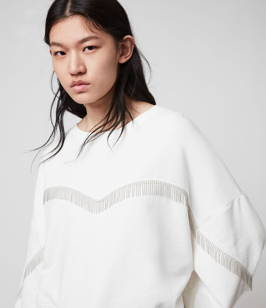 Womens Uda Chain Sweatshirt (chalk_white) - Image 1