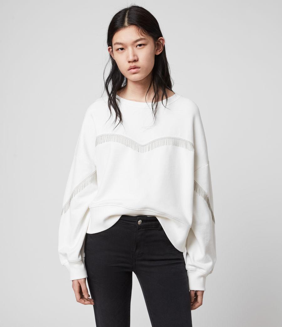 Womens Uda Chain Sweatshirt (chalk_white) - Image 2