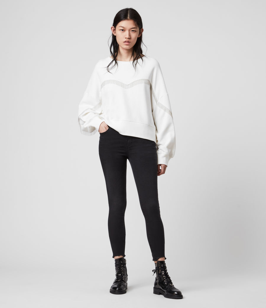Womens Uda Chain Sweatshirt (chalk_white) - Image 3