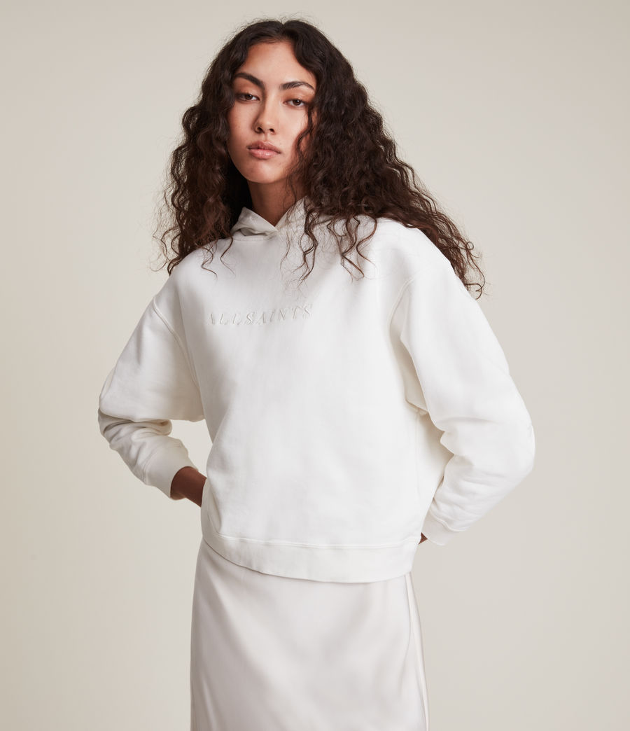 Women's Pippa Embroidered Hoodie (chalk_white) - Image 2