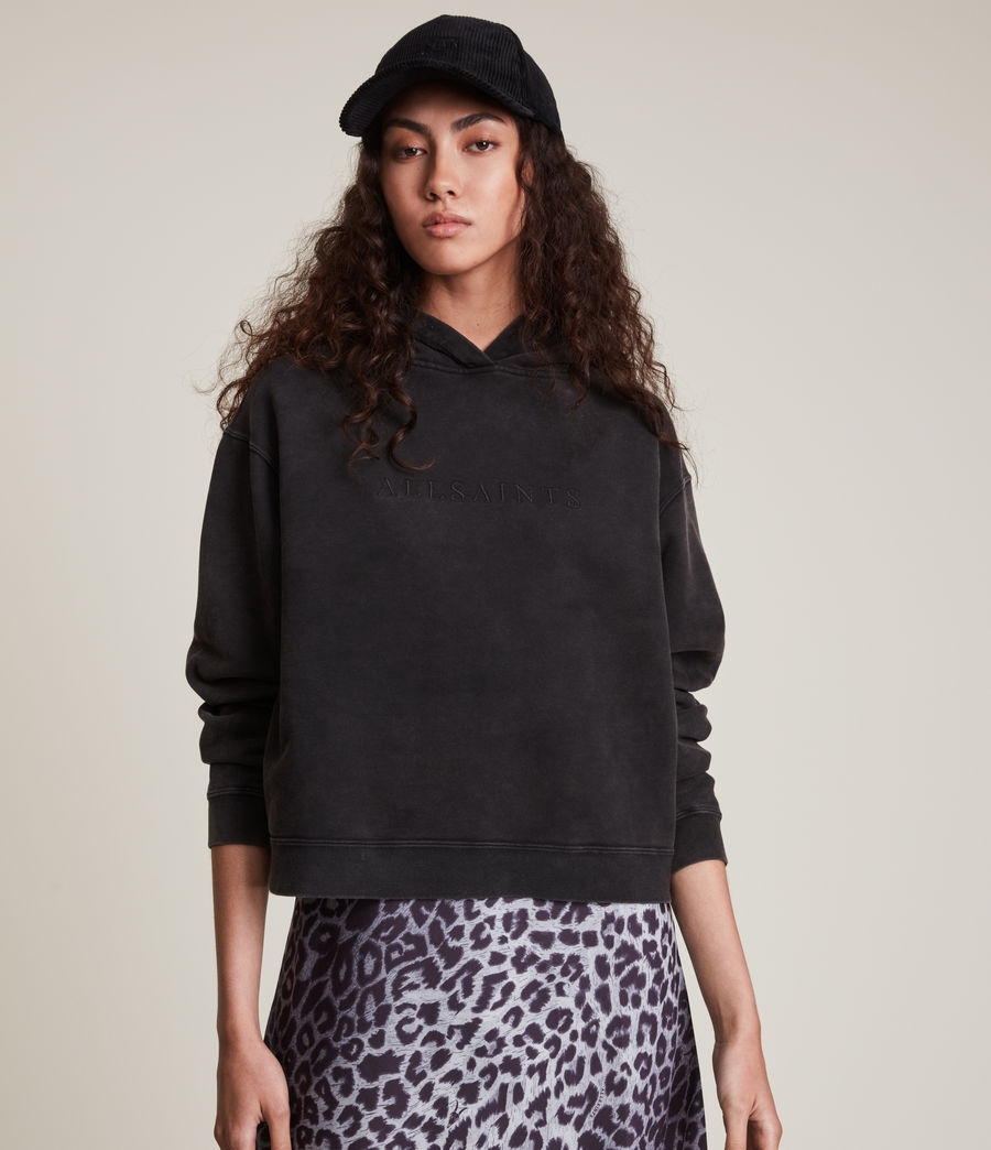 Women's Pippa Embroidered Hoodie (black) - Image 1