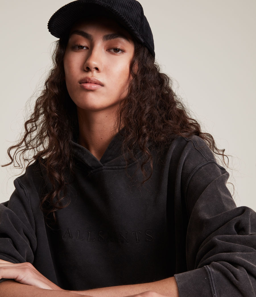 Women's Pippa Embroidered Hoodie (black) - Image 3