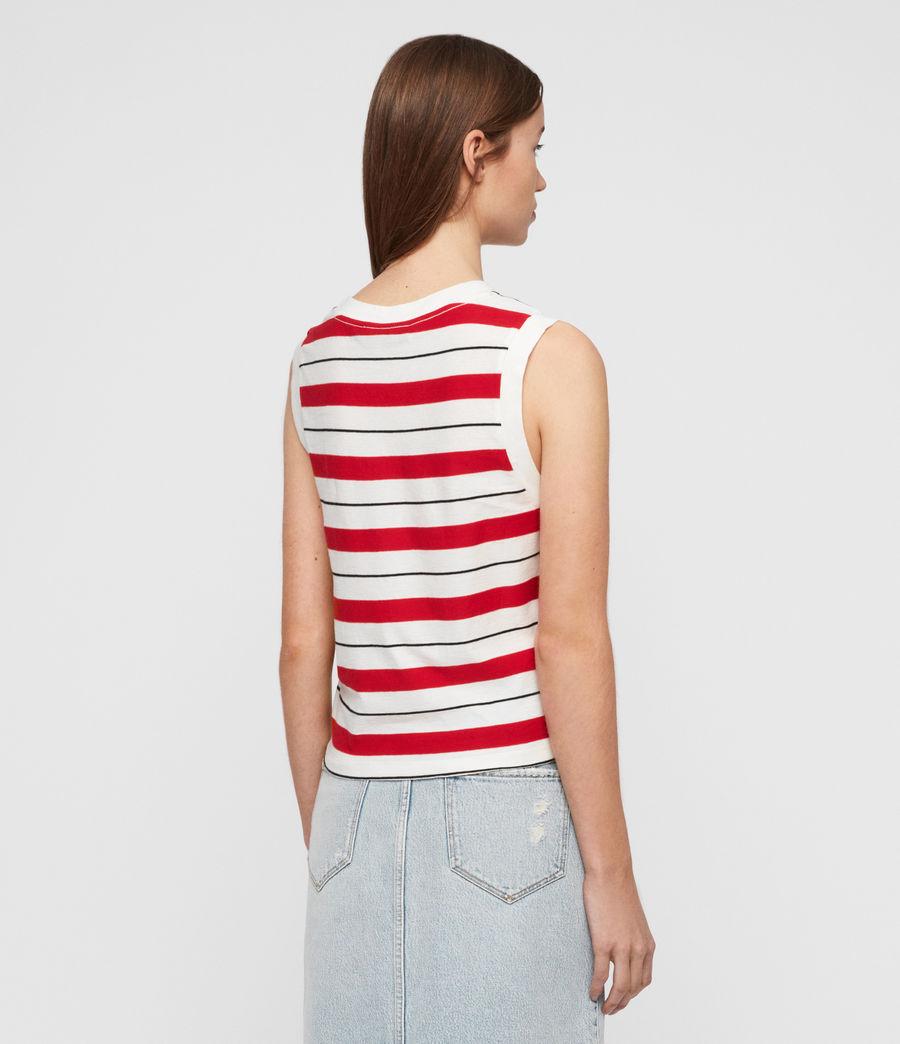 Womens Imogen Stripe Tank (red_chalk_black) - Image 4