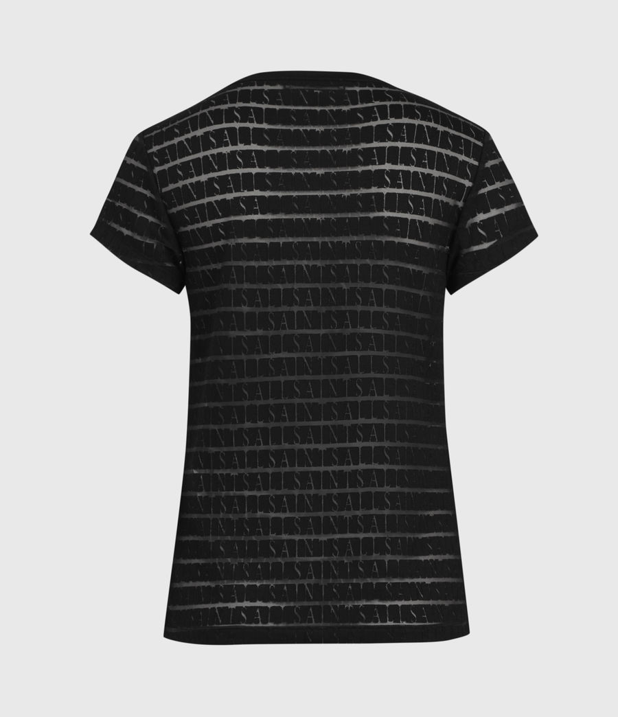 Women's Bela Stripe T-Shirt (black) - Image 3