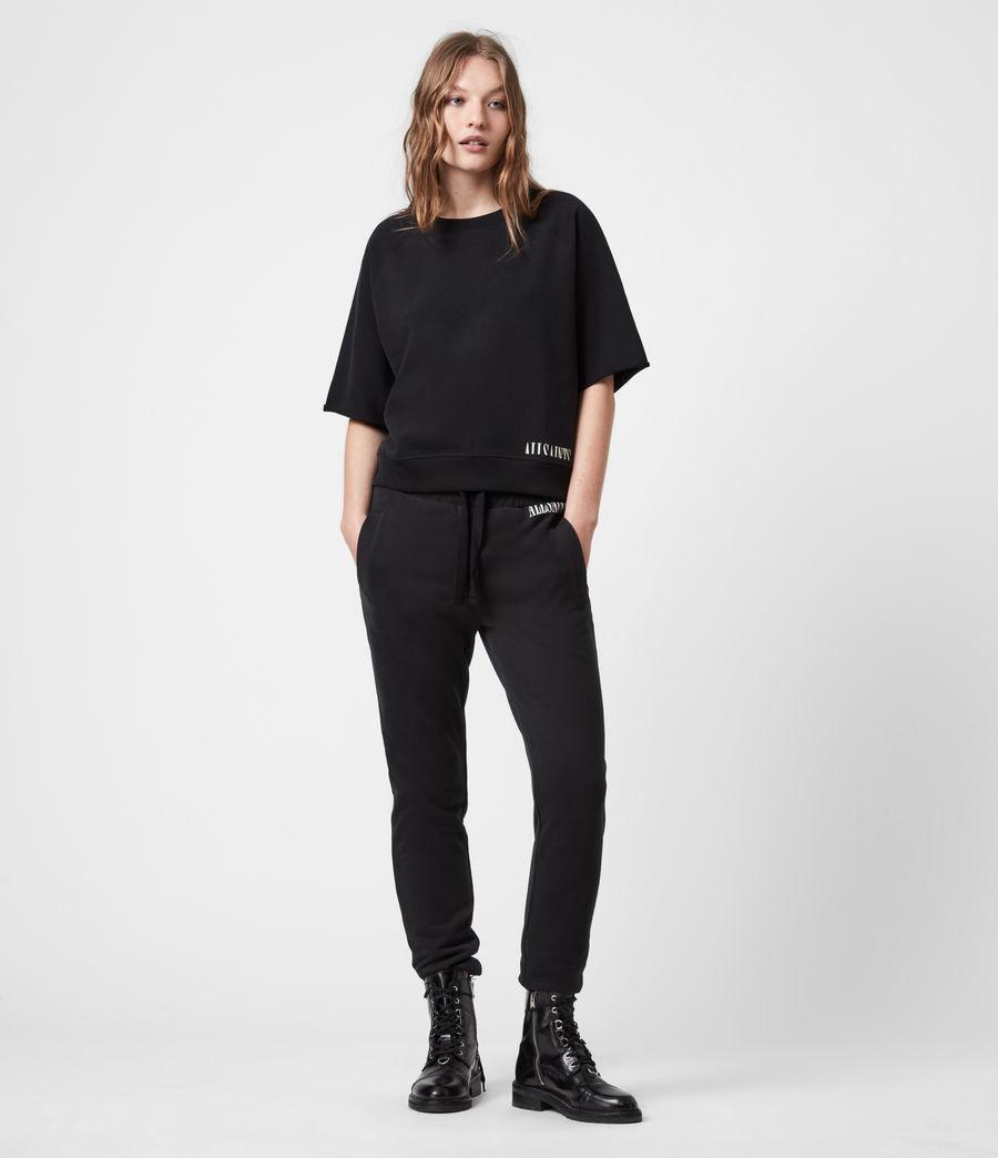 Womens Lila Sweatshirt (black) - Image 7