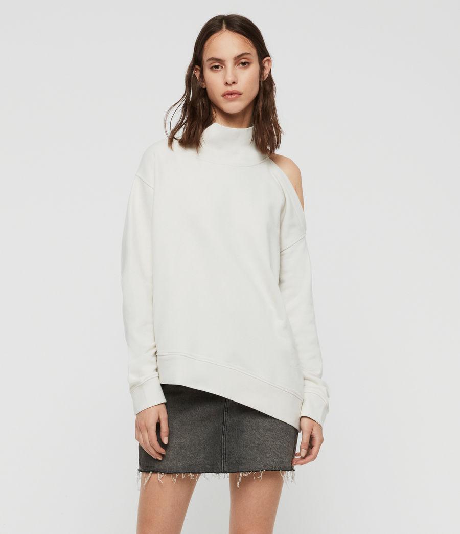 Womens Brady Sweatshirt (ivory_white) - Image 1