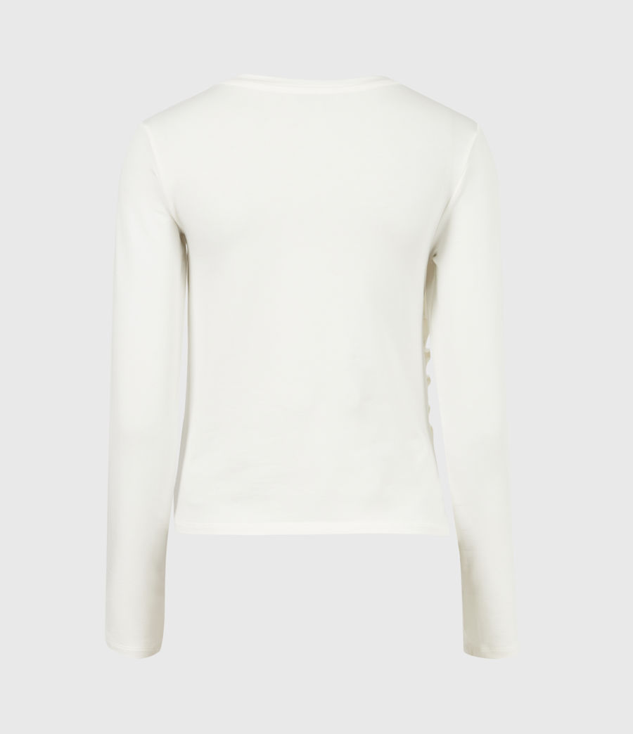 Women's Hatti Long Sleeve T-Shirt (chalk_white) - Image 3