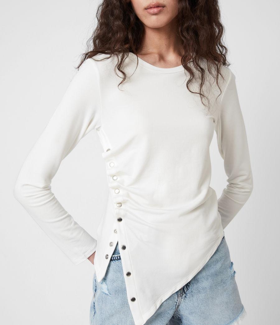 Mujer Camiseta de Manga Larga Hatti (chalk_white) - Image 4