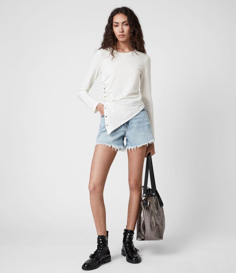 Women's Hatti Long Sleeve T-Shirt (chalk_white) - Image 7