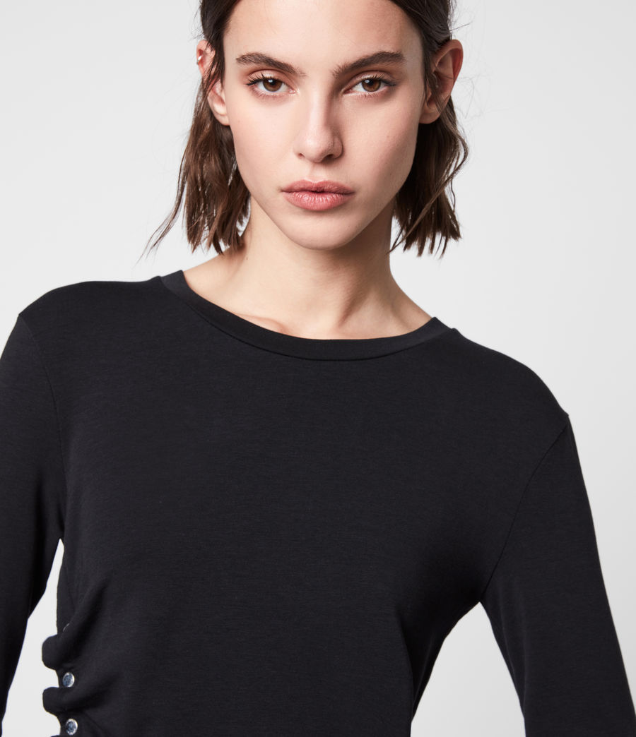 Womens Hatti Long Sleeve T-Shirt (black) - Image 2