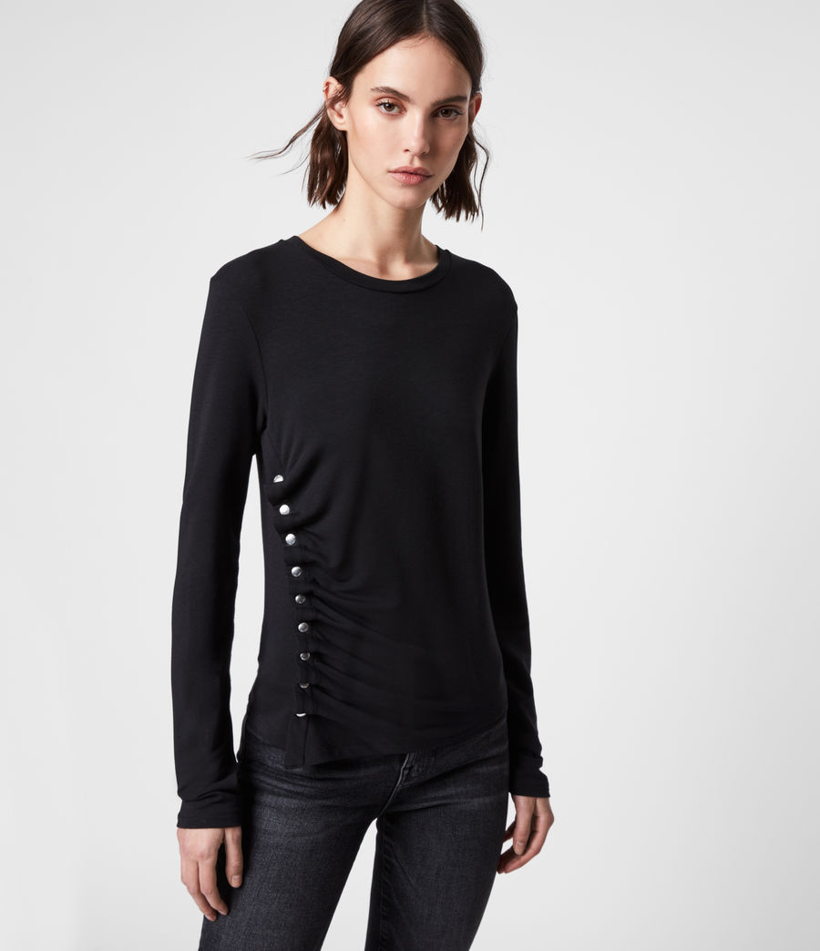 Womens Hatti Long Sleeve T-Shirt (black) - Image 5