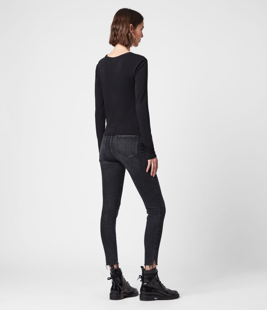 Damen Hatti Long Sleeve T-Shirt (black) - Image 6