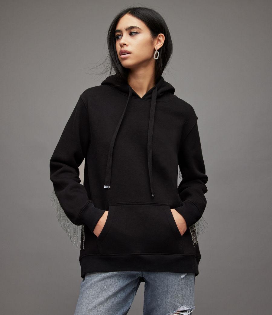 Women's Giselle Chain Hoodie (black) - Image 2