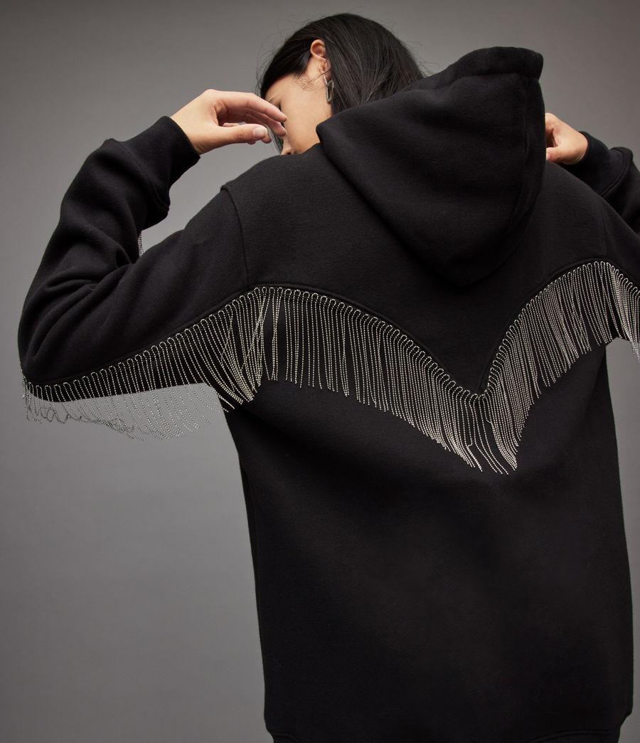 Women's Giselle Chain Hoodie (black) - Image 3
