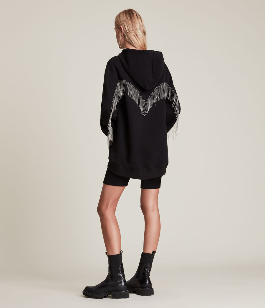 Women's Giselle Chain Hoodie (black) - Image 5