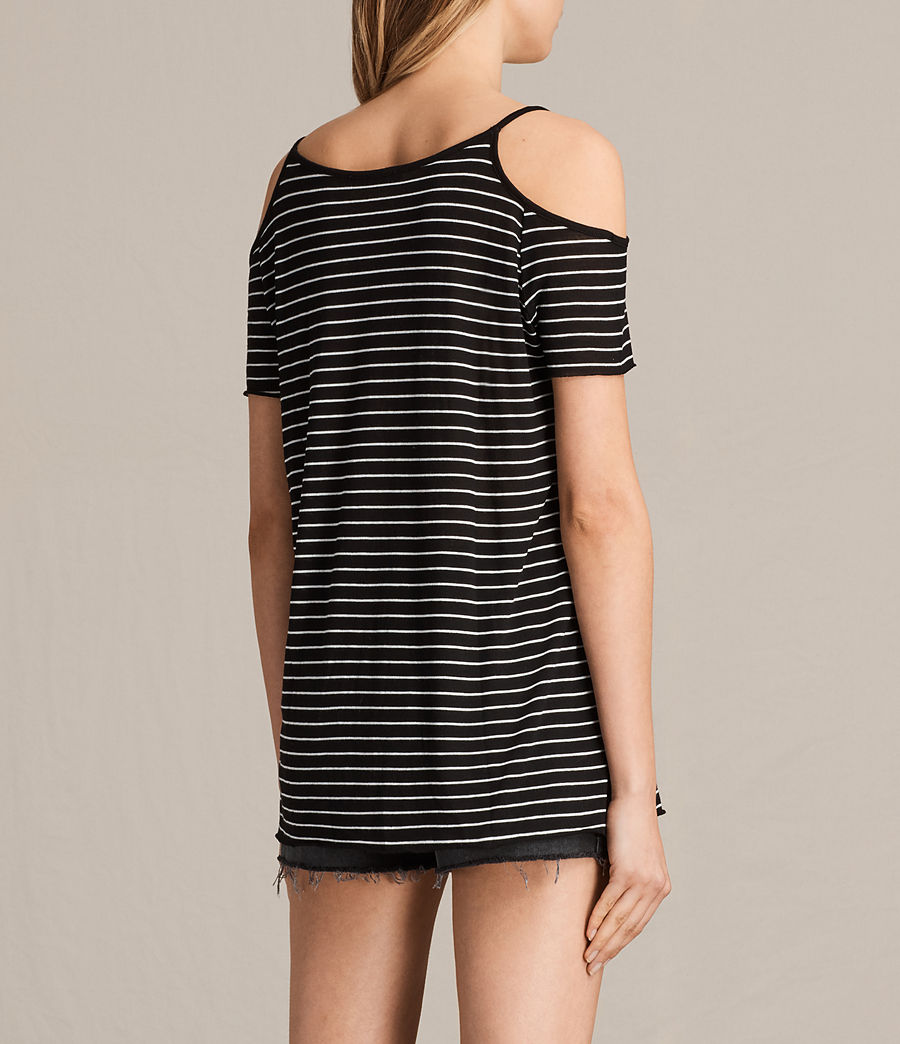 Womens Tyra Stripe Top (black_oyster_white) - Image 3