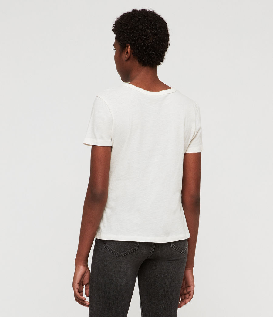 Damen Feda T-Shirt (chalk_white) - Image 4