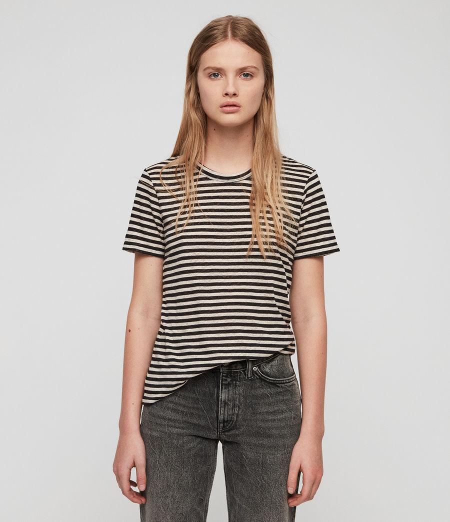 Women's Feda Stripe T-Shirt (chalk_ink_blue) - Image 1