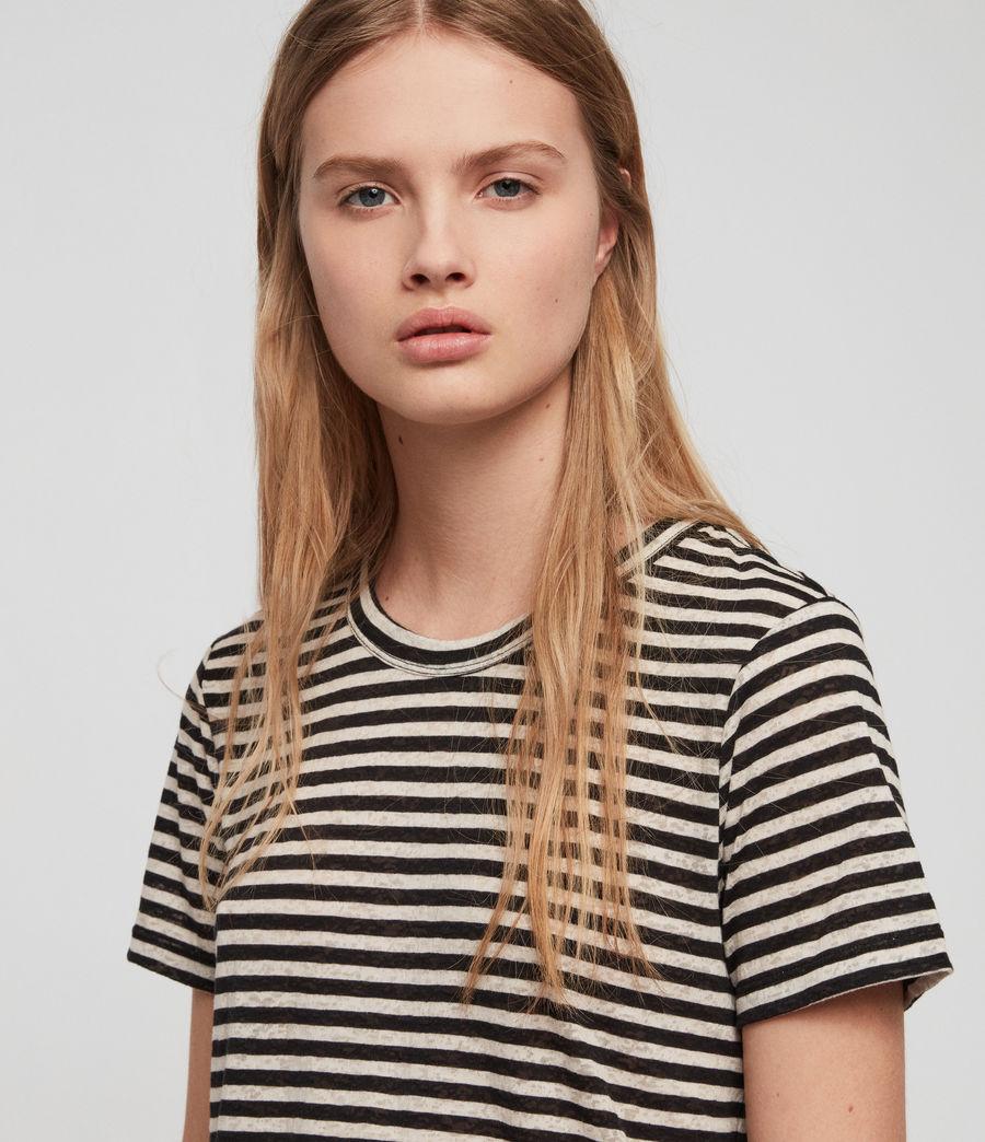 Women's Feda Stripe T-Shirt (chalk_ink_blue) - Image 2