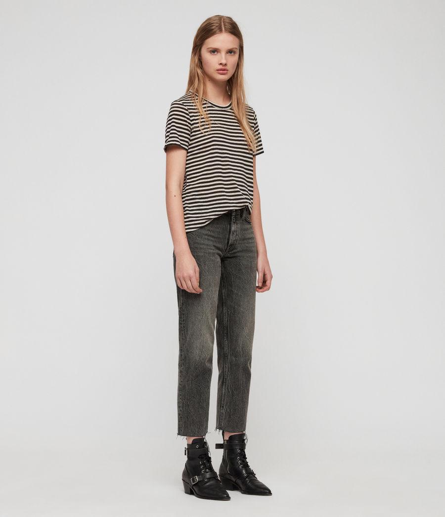 Women's Feda Stripe T-Shirt (chalk_ink_blue) - Image 3