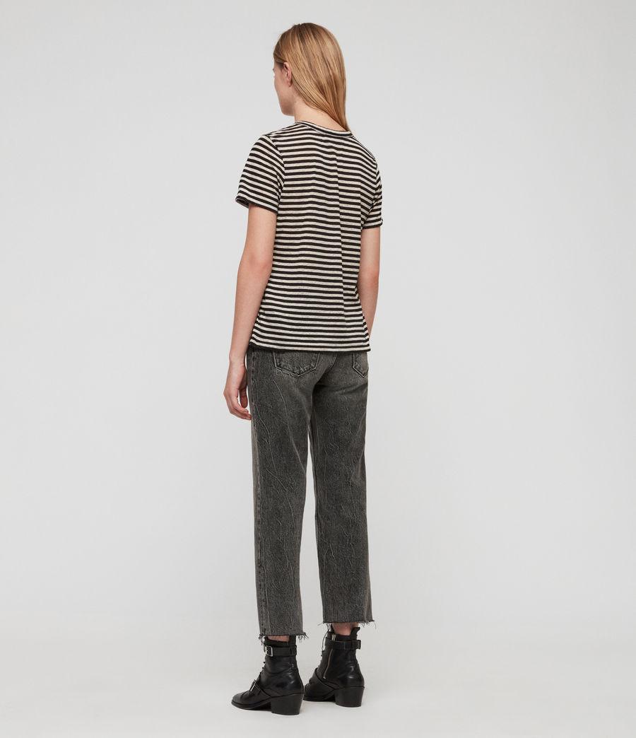 Women's Feda Stripe T-Shirt (chalk_ink_blue) - Image 4