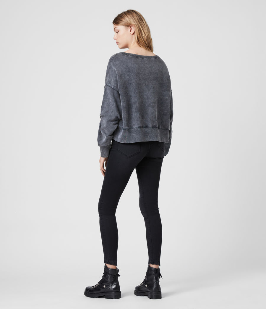 Women's Piro Asaint Sweatshirt (washed_black) - Image 5