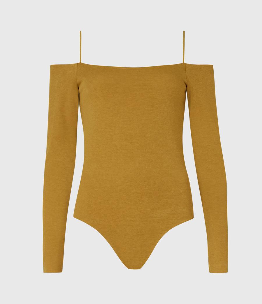 Womens Audrey Bodysuit (mustard_yellow) - Image 2