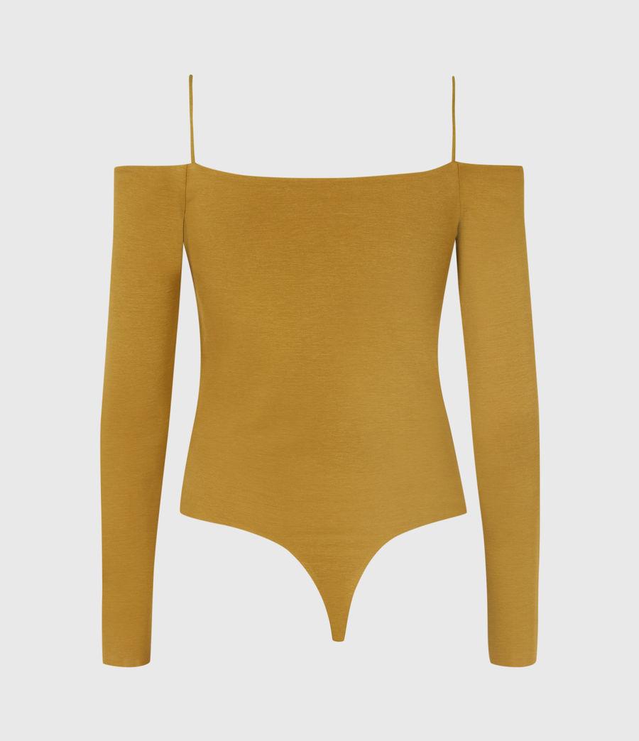 Womens Audrey Bodysuit (mustard_yellow) - Image 3