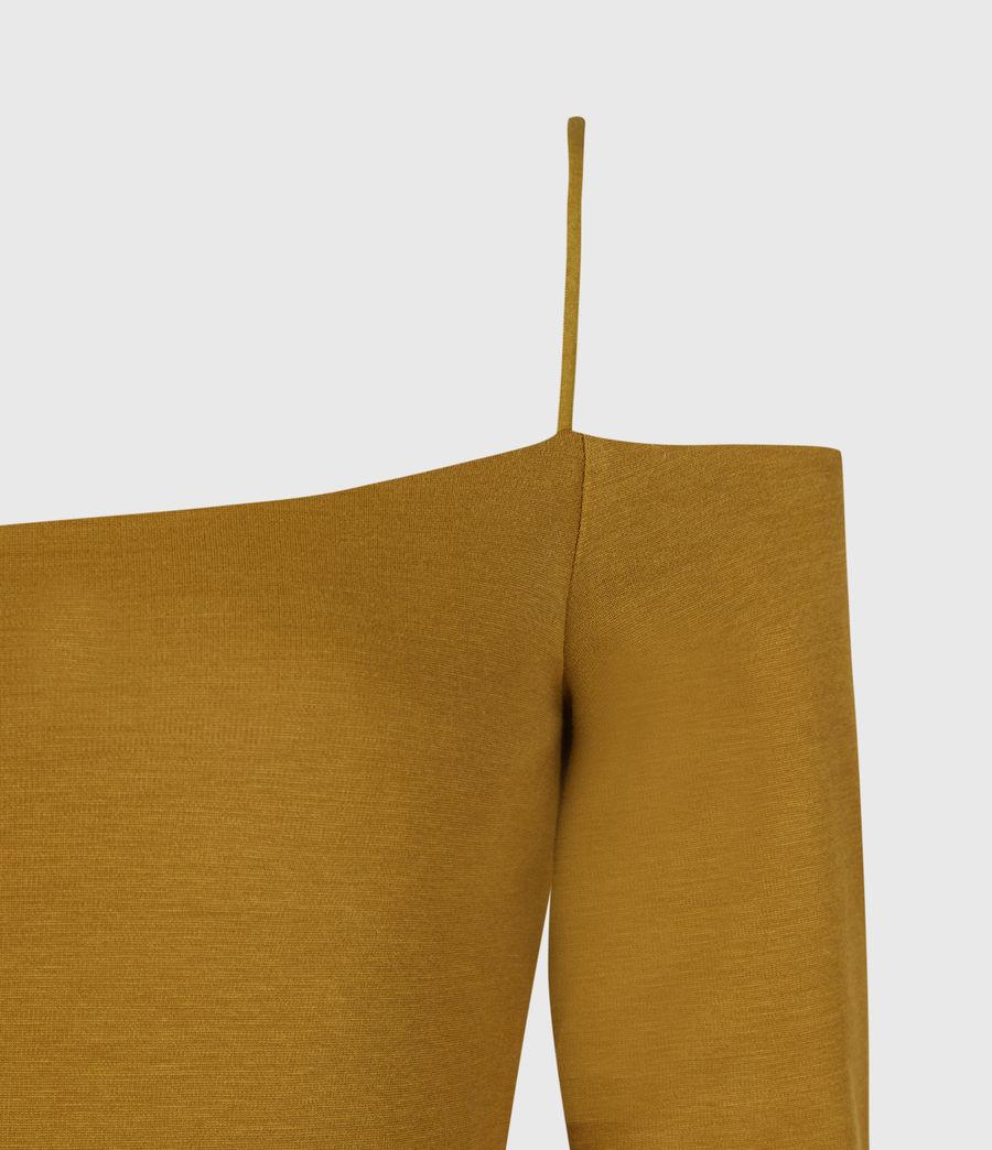 Womens Audrey Bodysuit (mustard_yellow) - Image 4