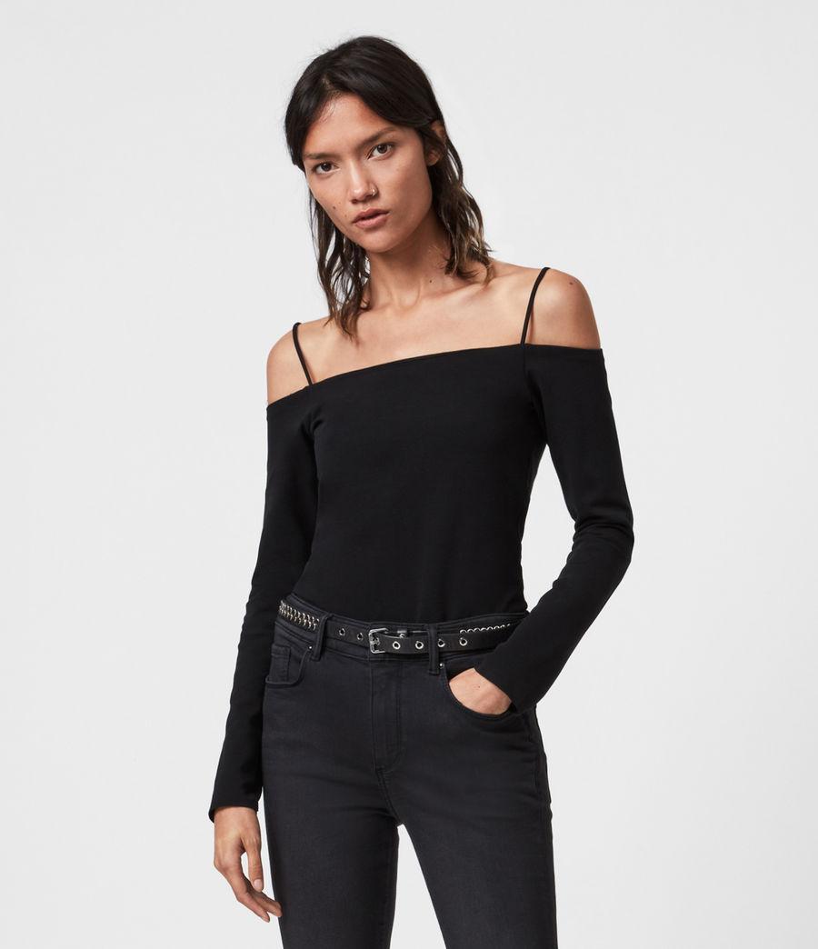 Women's Audery Bodysuit (black) - Image 1